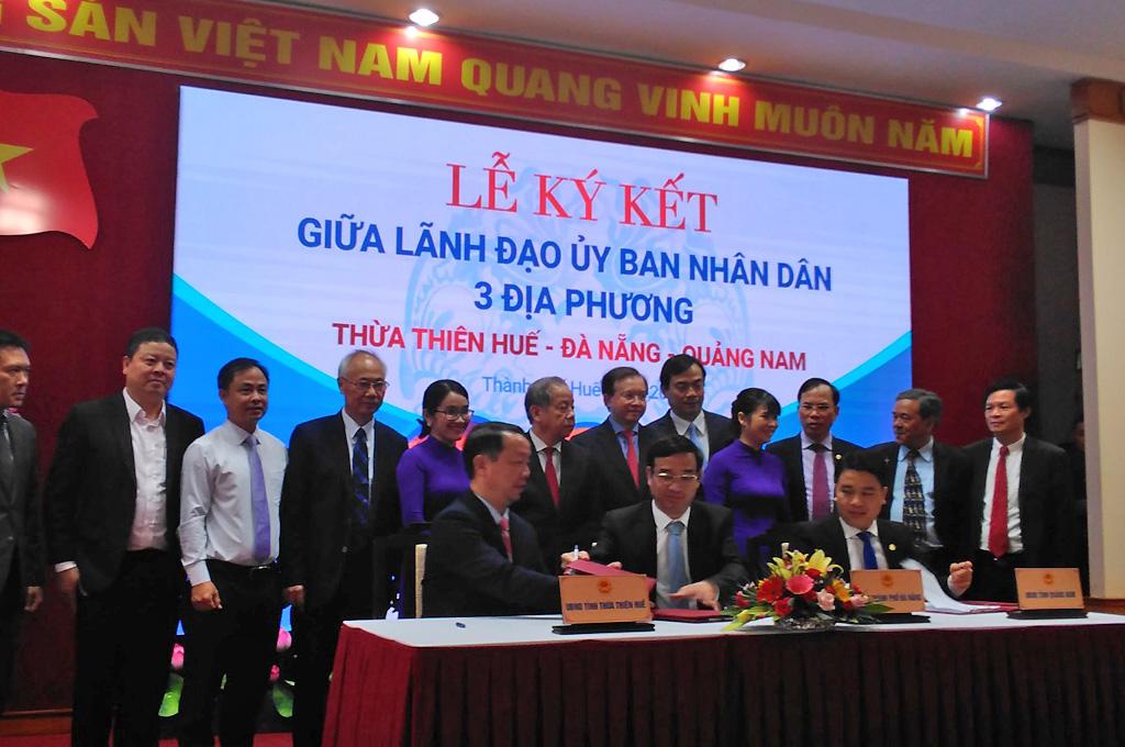 Thừa Thiên Huế - Đà Nẵng - Quảng Nam ký kết Chương trình liên kết phục hồi, phát triển du lịch