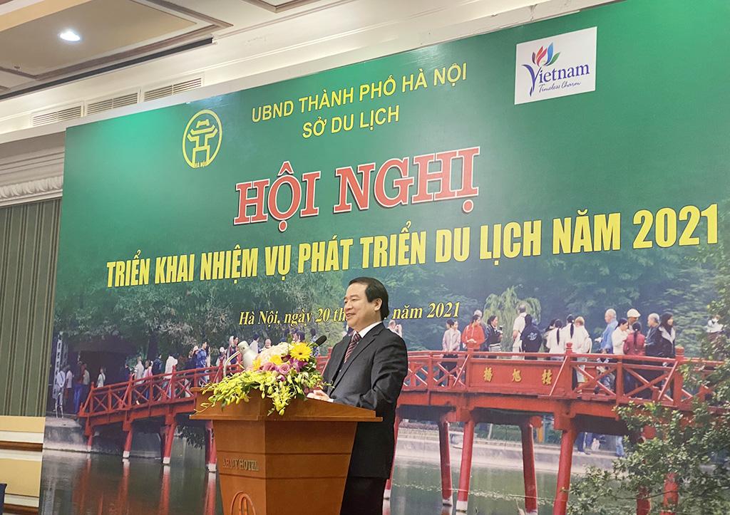 Phó Tổng cục trưởng Hà Văn Siêu dự Hội nghị triển khai nhiệm vụ phát triển du lịch Hà Nội năm 2021